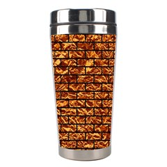 Brick1 Black Marble & Copper Foil (r) Stainless Steel Travel Tumblers by trendistuff