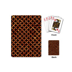 Circle3 Black Marble & Copper Foilper Foil Playing Cards (mini)  by trendistuff
