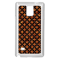 Circles3 Black Marble & Copper Foil (r) Samsung Galaxy Note 4 Case (white) by trendistuff