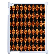 Diamond1 Black Marble & Copper Foilcopper Foil Apple Ipad 2 Case (white) by trendistuff