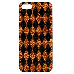 Diamond1 Black Marble & Copper Foilcopper Foil Apple Iphone 5 Hardshell Case With Stand by trendistuff