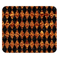 Diamond1 Black Marble & Copper Foilcopper Foil Double Sided Flano Blanket (small)  by trendistuff