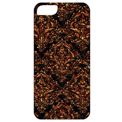 Damask1 Black Marble & Copper Foil Apple Iphone 5 Classic Hardshell Case by trendistuff