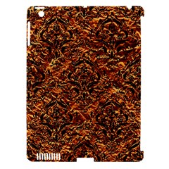 Damask1 Black Marble & Copper Foil (r) Apple Ipad 3/4 Hardshell Case (compatible With Smart Cover) by trendistuff