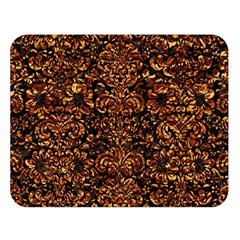 Damask2 Black Marble & Copper Foil Double Sided Flano Blanket (large)  by trendistuff