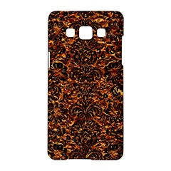 Damask2 Black Marble & Copper Foil (r)2 Black Marble & Copper Foil (r) Samsung Galaxy A5 Hardshell Case  by trendistuff