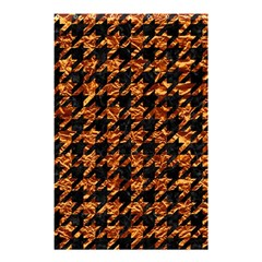Houndstooth1 Black Marble & Copper Foil Shower Curtain 48  X 72  (small)  by trendistuff