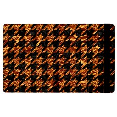 Houndstooth1 Black Marble & Copper Foil Apple Ipad 3/4 Flip Case by trendistuff
