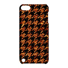 Houndstooth1 Black Marble & Copper Foil Apple Ipod Touch 5 Hardshell Case With Stand by trendistuff