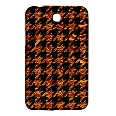 Houndstooth1 Black Marble & Copper Foil Samsung Galaxy Tab 3 (7 ) P3200 Hardshell Case  by trendistuff