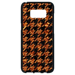 Houndstooth1 Black Marble & Copper Foil Samsung Galaxy S8 Black Seamless Case by trendistuff