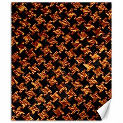 Houndstooth2 Black Marble & Copper Foil Canvas 20  X 24   by trendistuff
