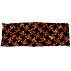 Houndstooth2 Black Marble & Copper Foil Body Pillow Case (dakimakura) by trendistuff