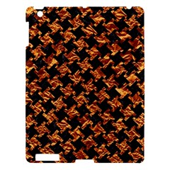 Houndstooth2 Black Marble & Copper Foil Apple Ipad 3/4 Hardshell Case by trendistuff
