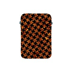 Houndstooth2 Black Marble & Copper Foil Apple Ipad Mini Protective Soft Cases by trendistuff