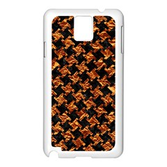 Houndstooth2 Black Marble & Copper Foil Samsung Galaxy Note 3 N9005 Case (white) by trendistuff