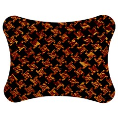 Houndstooth2 Black Marble & Copper Foil Jigsaw Puzzle Photo Stand (bow) by trendistuff
