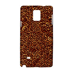 Hexagon1 Black Marble & Copper Foil (r)ble & Copper Foil (r) Samsung Galaxy Note 4 Hardshell Case by trendistuff