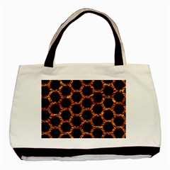 Hexagon2 Black Marble & Copper Foilmarble & Copper Foil Basic Tote Bag by trendistuff