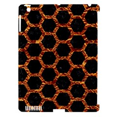 Hexagon2 Black Marble & Copper Foilmarble & Copper Foil Apple Ipad 3/4 Hardshell Case (compatible With Smart Cover) by trendistuff