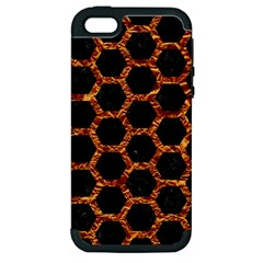 Hexagon2 Black Marble & Copper Foilmarble & Copper Foil Apple Iphone 5 Hardshell Case (pc+silicone) by trendistuff