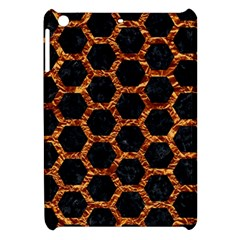 Hexagon2 Black Marble & Copper Foilmarble & Copper Foil Apple Ipad Mini Hardshell Case by trendistuff