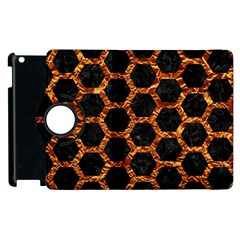 Hexagon2 Black Marble & Copper Foilmarble & Copper Foil Apple Ipad 3/4 Flip 360 Case by trendistuff