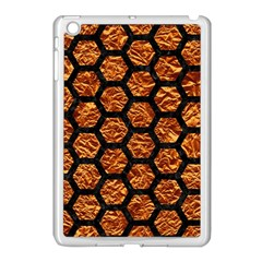 Hexagon2 Black Marble & Copper Foil (r) Apple Ipad Mini Case (white) by trendistuff
