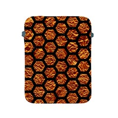 Hexagon2 Black Marble & Copper Foil (r) Apple Ipad 2/3/4 Protective Soft Cases by trendistuff