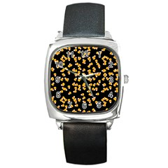 Candy Corn Square Metal Watch