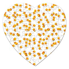Candy Corn Jigsaw Puzzle (heart) by Valentinaart