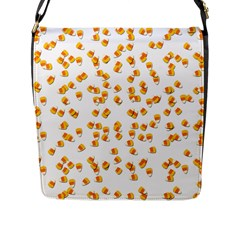 Candy Corn Flap Messenger Bag (l)  by Valentinaart