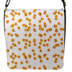 Candy Corn Flap Messenger Bag (s) by Valentinaart