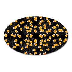 Candy Corn Oval Magnet by Valentinaart