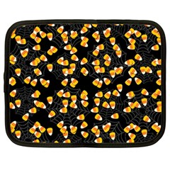 Candy Corn Netbook Case (large) by Valentinaart