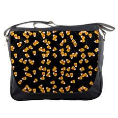 Candy Corn Messenger Bags by Valentinaart