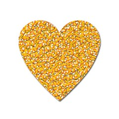Candy Corn Heart Magnet by Valentinaart