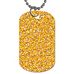 Candy Corn Dog Tag (two Sides) by Valentinaart