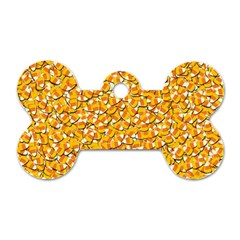 Candy Corn Dog Tag Bone (one Side) by Valentinaart