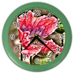 Dreamy Floral 5 Color Wall Clocks by MoreColorsinLife