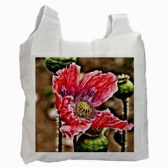 Dreamy Floral 5 Recycle Bag (two Side)  by MoreColorsinLife
