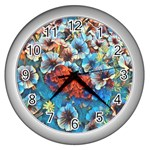 Dreamy Floral 3 Wall Clocks (Silver)  Front