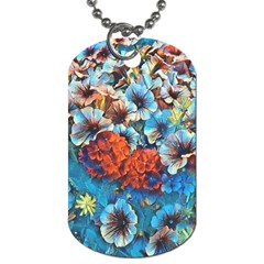 Dreamy Floral 3 Dog Tag (one Side)