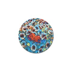 Dreamy Floral 3 Golf Ball Marker (4 Pack) by MoreColorsinLife