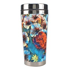 Dreamy Floral 3 Stainless Steel Travel Tumblers by MoreColorsinLife
