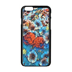 Dreamy Floral 3 Apple Iphone 6/6s Black Enamel Case by MoreColorsinLife