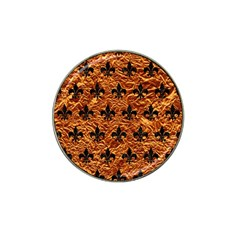 Royal1 Black Marble & Copper Foil Hat Clip Ball Marker (4 Pack) by trendistuff