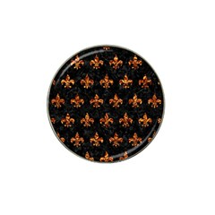 Royal1 Black Marble & Copper Foil (r) Hat Clip Ball Marker (4 Pack) by trendistuff