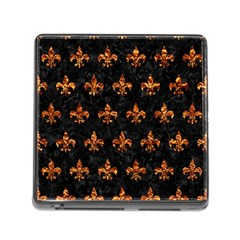 Royal1 Black Marble & Copper Foil (r) Memory Card Reader (square) by trendistuff
