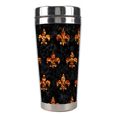 Royal1 Black Marble & Copper Foil (r) Stainless Steel Travel Tumblers by trendistuff